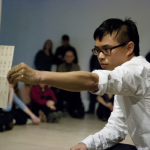 Haïku performatif Paysage de soie, Montréal, Nagano, Calgary, 2014-2015